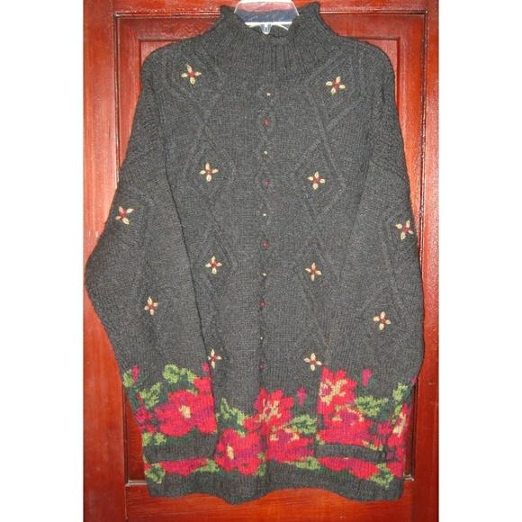 0b04a2e077 L.L. Bean Sweaters - L.L. Bean XL 1X Thick Cable Knit Sweater Wool Long